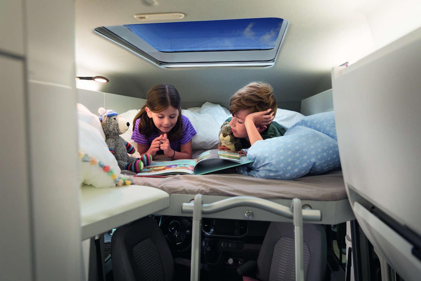 Kinderbett im Hochdach