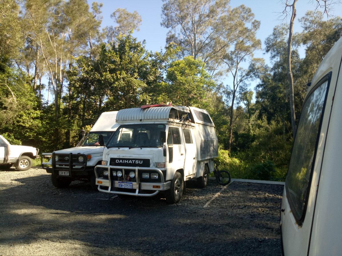 Übernachtung im Campervan in Australien