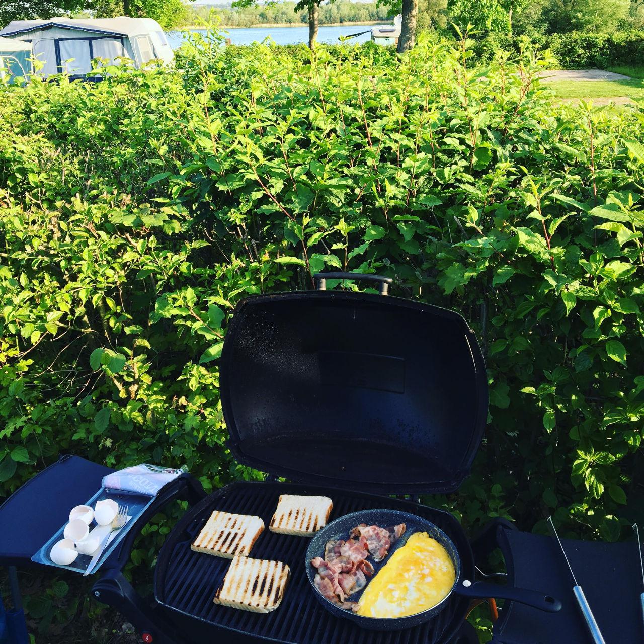 Grillen auf dem Campingplatz