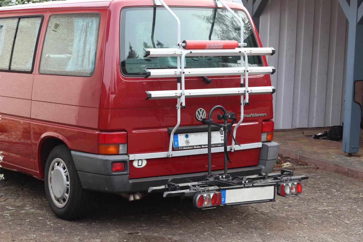 Fahrradtransport am VW T4