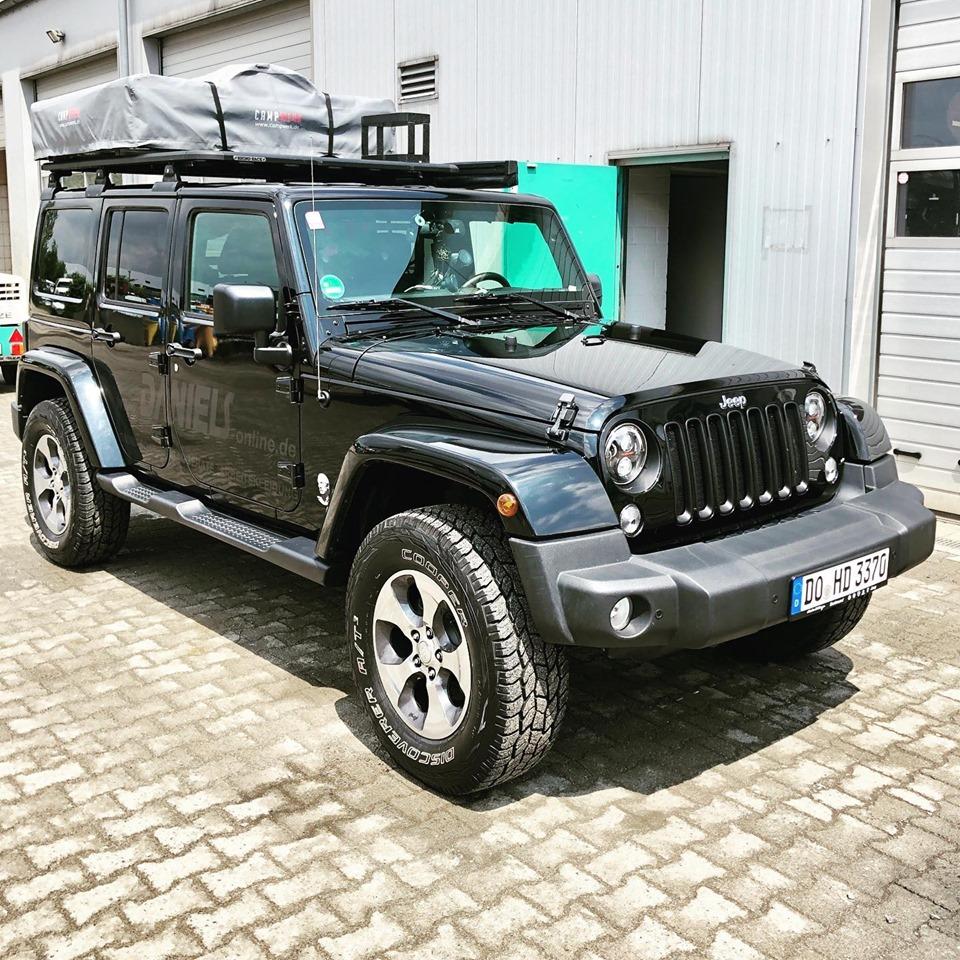 Dachzelt auf Jeep Wrangler Unlimited JK