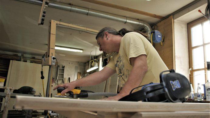 Steyr Excap 12M18 Bau der Möbel