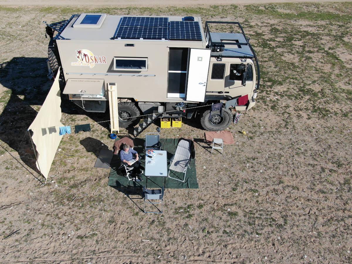 Steyr Excap 12M18 Expeditionsmobil auf Weltreise