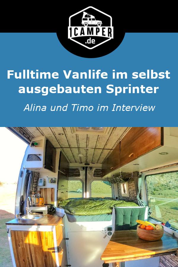 Vanlife mit selbst ausgebautem Mercedes Sprinter